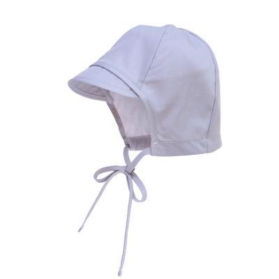 Sonnenmütze mit Schirmchen grau