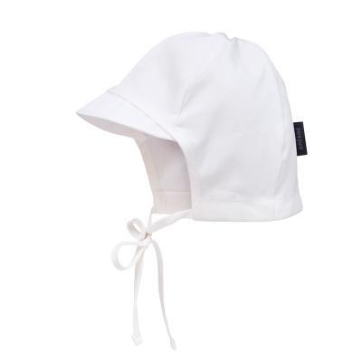 Sonnenmütze mit Schirmchen weiß