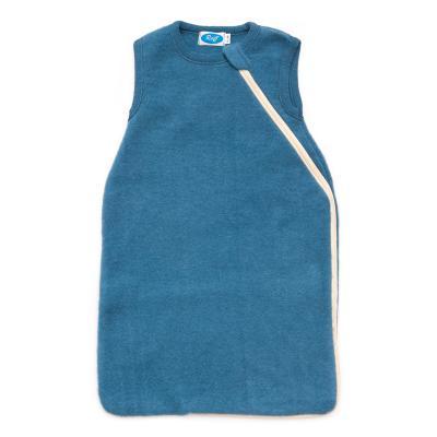 Schlafsack Wollfleece ohne Arm pazifik