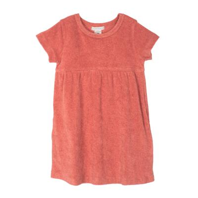 Kleid aus Baumwollfrottee ziegelrot