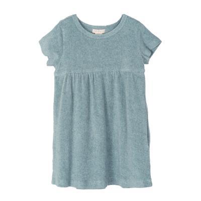 Kleid aus Baumwollfrottee seeblau
