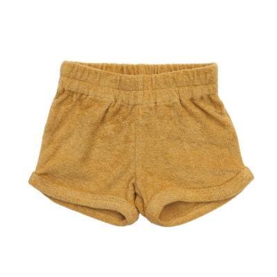 kurze Hose aus Baumwollfrottee honig