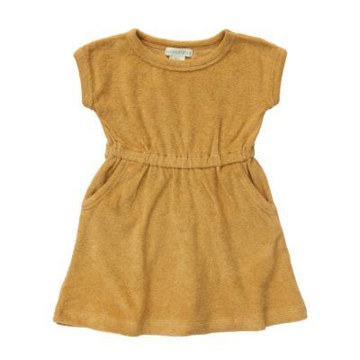 Kleid aus Baumwollfrottee honig