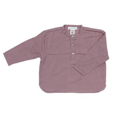 feines Kinderhemd aus Baumwolle flieder