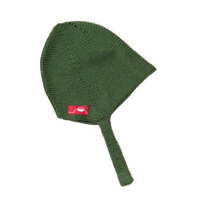 Mütze aus Wolle grün