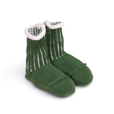 Socken für Babies aus Wolle grün