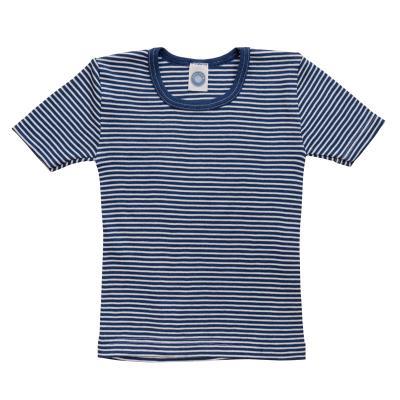 Kinderhemd WS kurzarm marine-natur