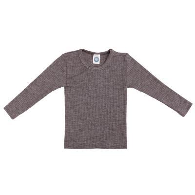 Kinderhemd BWS langarm braun-melange