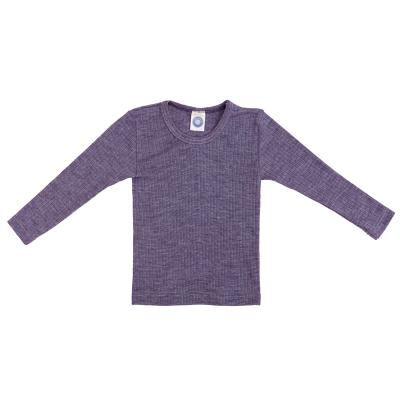Kinderhemd BWS langarm pflaume-melange