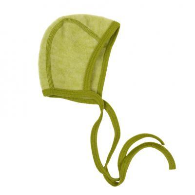 Häubchen Wollfleece lindgrün