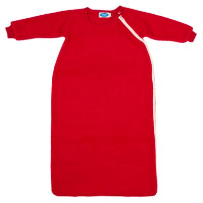 Schlafsack Wollfleece mit Arm burgund