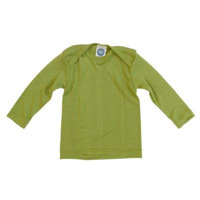 Schlupfhemd WS langarm grün