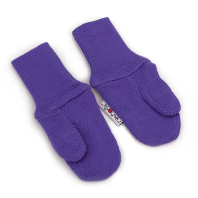 Handschuhe aus Wolle lila