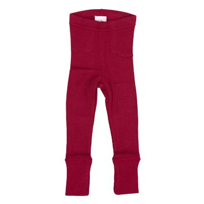 Leggings aus Wolle rot
