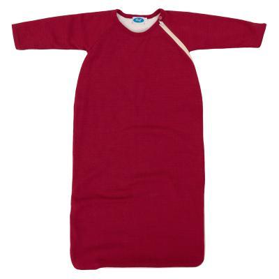 Schlafsack Merino-Schurwolle gefüttert burgund 98/104 | Sehr Gut