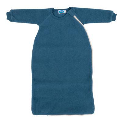Schlafsack Wollfleece mit Arm pazifik