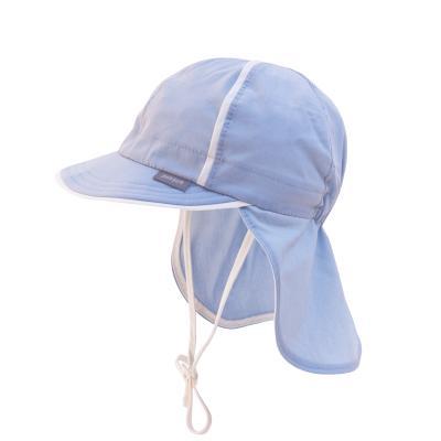 Sonnenmütze mit Nackenschutz graublau
