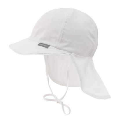 Sonnenmütze mit Nackenschutz weiß