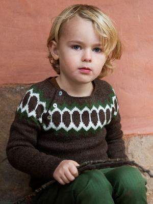 Strickpullover aus Alpakawolle walnuss