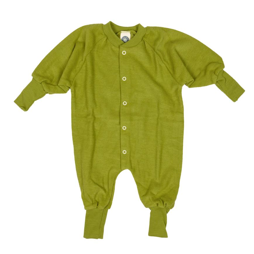 klassische Stile Bestbewerteter Rabatt unverwechselbarer Stil Räubersachen | Schlafanzug ohne Fuß Wollfrottee grün